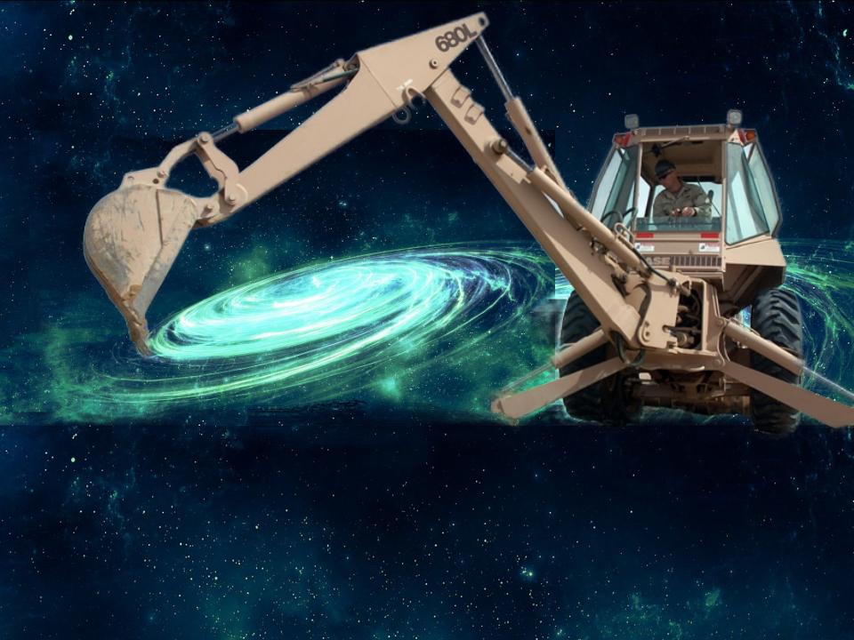 Digger creating a galaxy