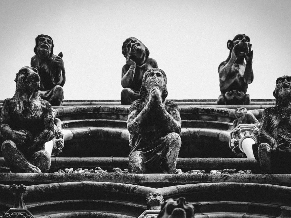 six statues