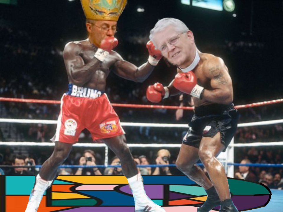 Justin Welby and Julian Henderson in a boxing match