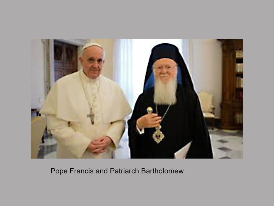 Pope Francis and Patriarch Bartholomew