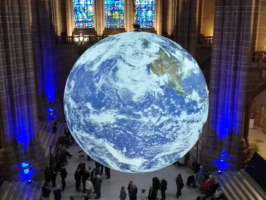 The Gaia Display at Liverpool Cathedral, June 2019